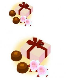 バレンタインのプレゼント イラスト素材