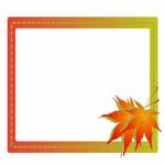紅葉・秋のフレーム枠イラスト素材