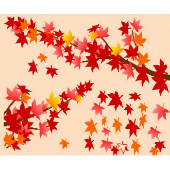秋 秋景色 秋の花 イラスト 無料