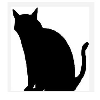 黒猫 イラスト - シンプルイラスト素材☆
