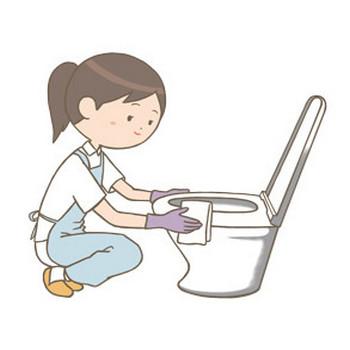 看護師がトイレの掃除をしているイラスト🎨【フリー素材】|看護roo![カンゴルー]