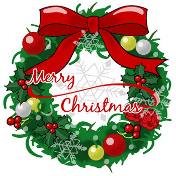 クリスマスリース-ダウンロード|かわいい無料イラスト 印刷素材.net