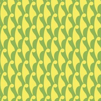 てるてる坊主柄(黄緑) 和柄商用フリー素材【wagara pattern】