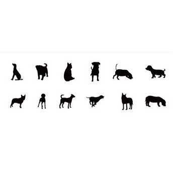 犬素材詰め合わせその1 | シルエットデザイン