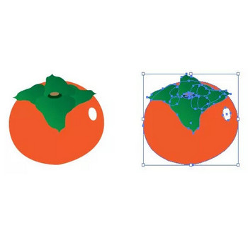 秋の果物、柿のイラスト | 【無料配布】イラレ/イラストレーター/ベクトル パスデータ保管庫【ai・eps ベクター素材】